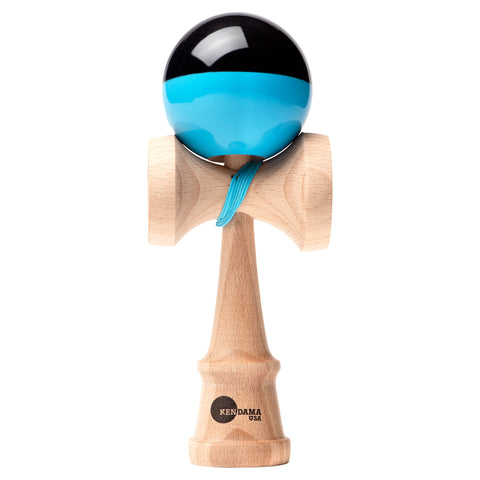 Kaizen Kendama - Half Split - Super Stick - Blue & Black