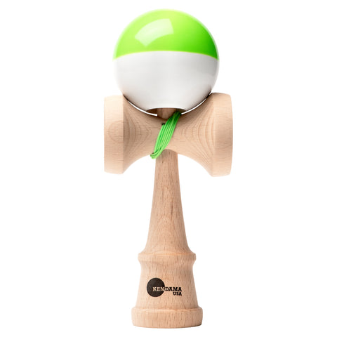 Kaizen Kendama - Half Split - Super Stick - Green & White