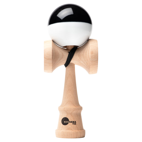 Kaizen Kendama - Half Split - Super Stick - Black & White