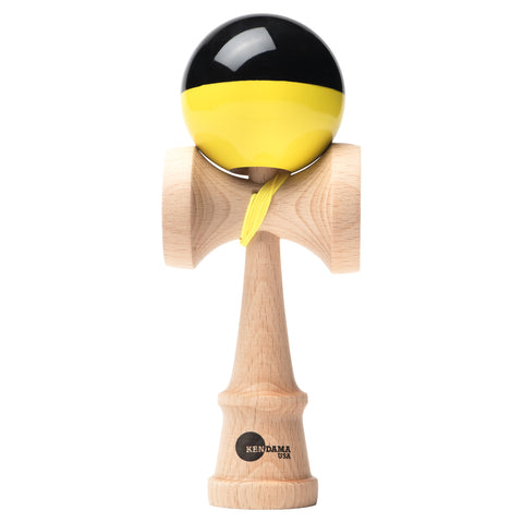 Kaizen Kendama - Half Split - Super Stick - Yellow & Black