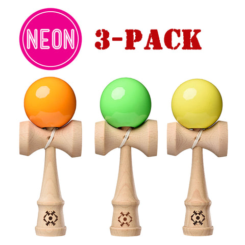 3-Pack - Neon Party Kendama Bundle