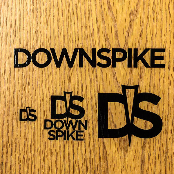 DownSpike Vinyl Stickers - 4 Pack - Black