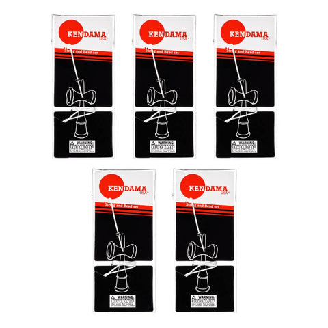Replacement Kendama String and Bead Packs - 5 Pack
