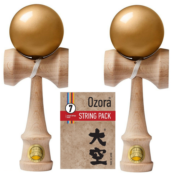 2-Pack Ozora Kendama - Premium Sticky (Gold)