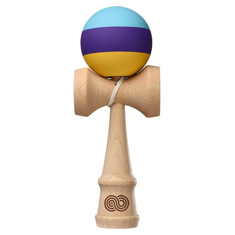Kaizen Kendama - Trip Split - Aqua Purple Yellow - Silk