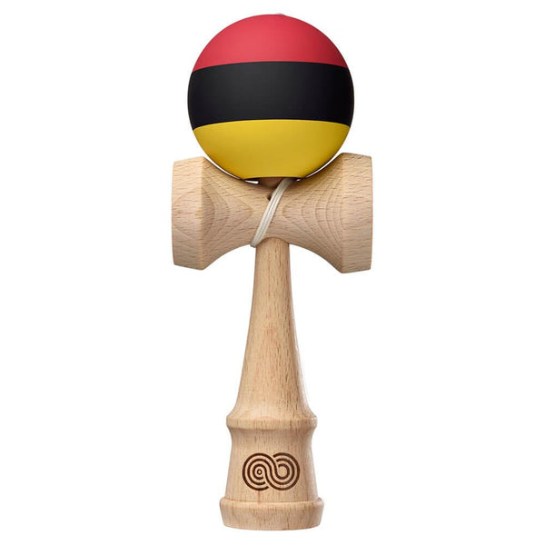 Kaizen Trip Split Kendama - Red Black Yellow - Silk