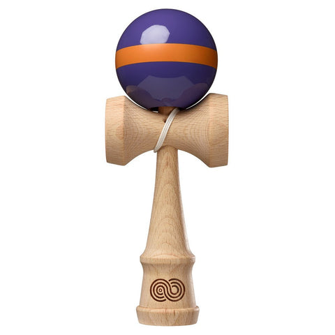 Kaizen Kendama Single Stripe - Purple with Orange Stripe - Gloss