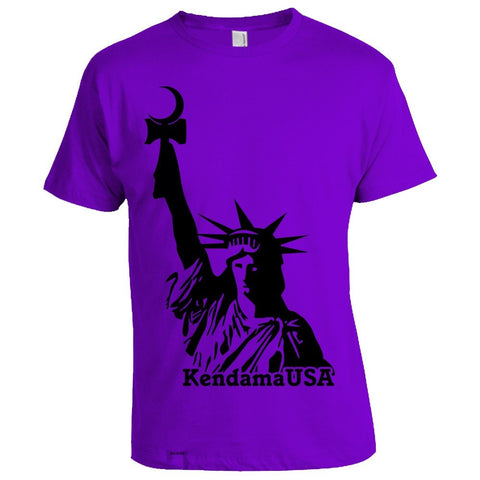 Statue Logo T-Shirt - Purple