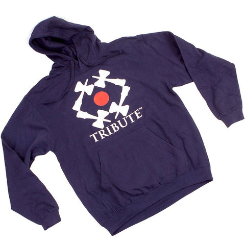 Tribute Logo Pullover Hoodie - Dark Navy Blue