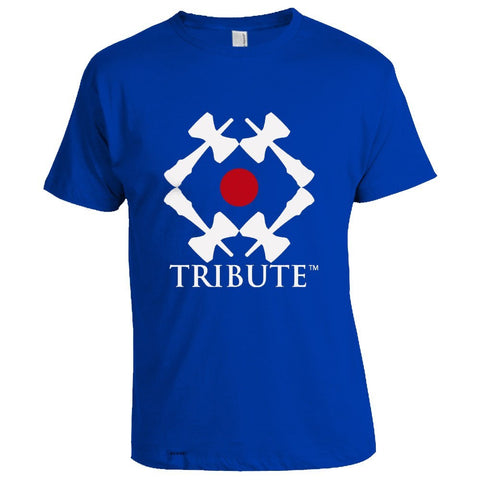 Tribute Logo T-Shirt - Royal Blue - White Ken