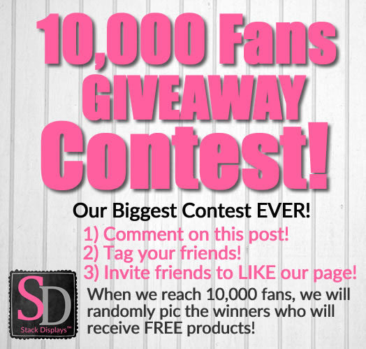 Stack Displays 10,000 Facebook Fans Giveaway Contest!