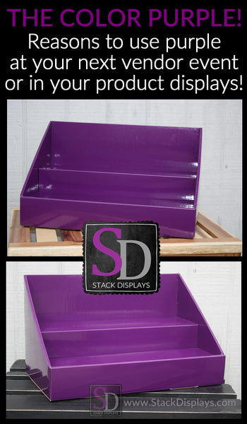 Using purple in your product displays or vendor booth for Craft direct promo code