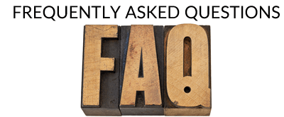 FAQ's - Frequently Asked Questions