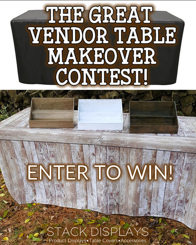 Great Vendor Table Makeover Contest from Stack Displays