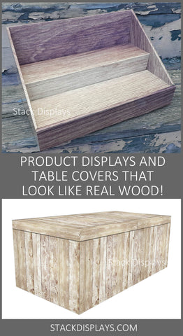 Faux Wood Displays & Table Covers from Stack Displays