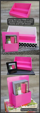 Pink Stack Displays for Vendor Events and Craft Shows