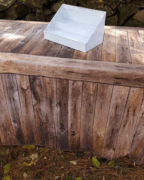 Fitted Table Cover - Rustic Oak
