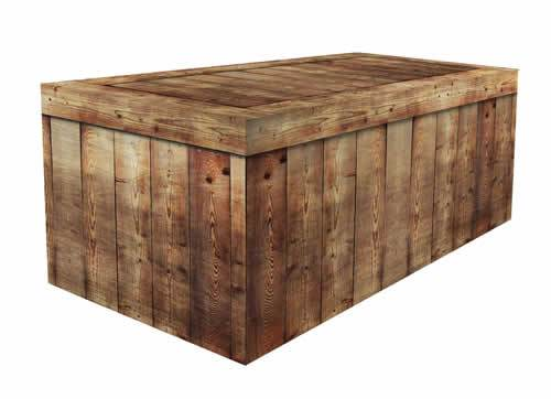 FITTED TABLE COVER - BARNWOOD