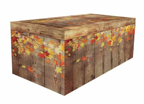 Fall faux wood table covers for farmer's markets and vendor events.