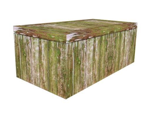 FITTED TABLE COVER - FOREST GREEN WOOD