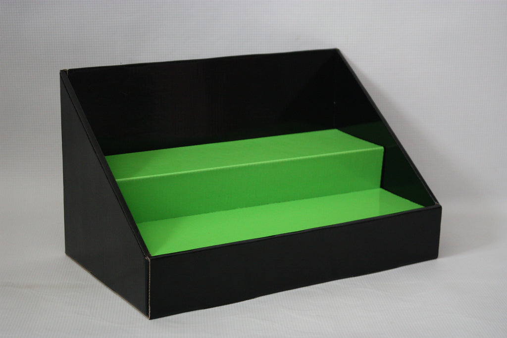 Black Lime Green Stack Display