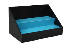 Cardboard Stack Display - Black with Blue Insert