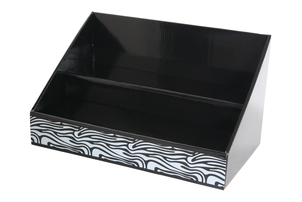 Black White Zebra Stack Display