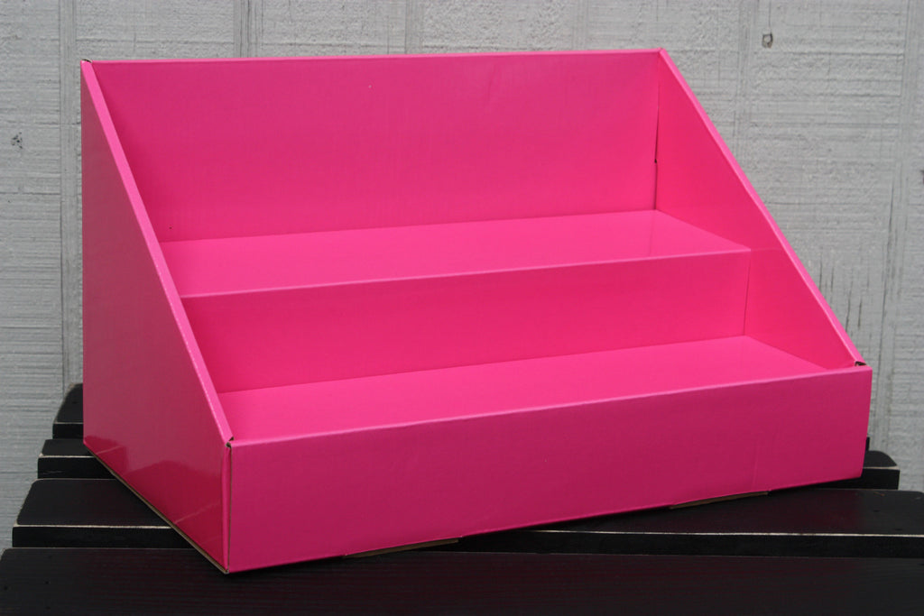 Cardboard Stack Display - Pink Salmon