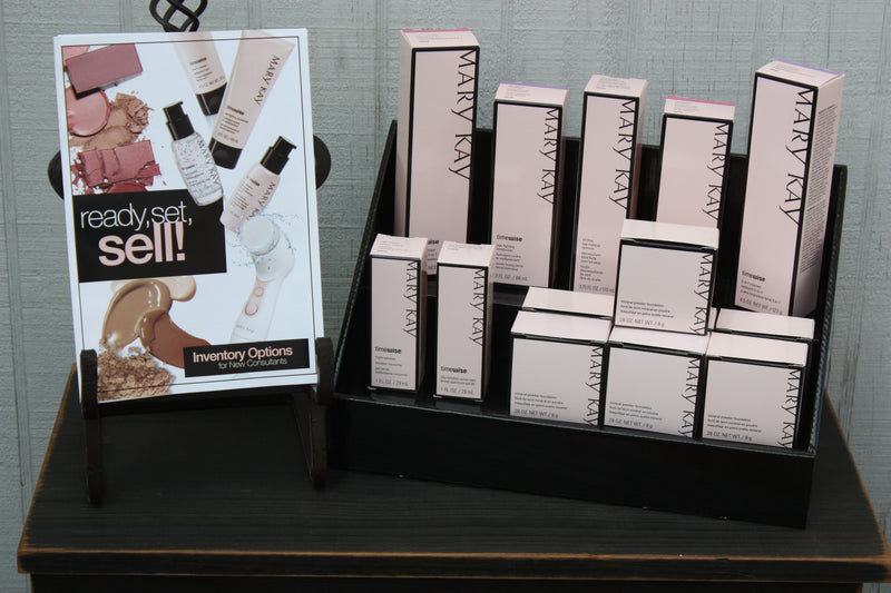 Black Stack Display with Mary Kay