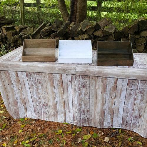 Cardboard Counter Display - Shabby Chic White Wood