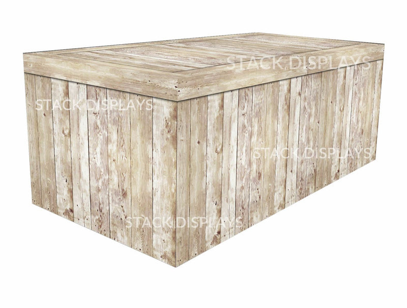Fitted Table Covers   Light Pine Wood Crate