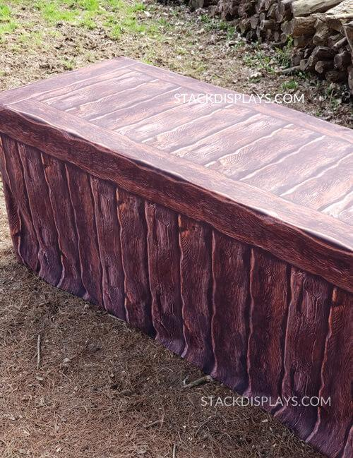 FITTED TABLE COVER - LOG CABIN WOOD