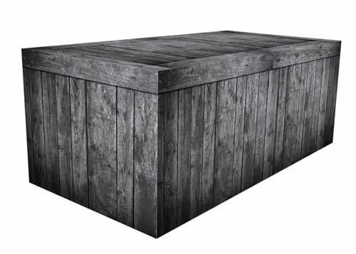 Fitted Table Cover - Black Wood Crate