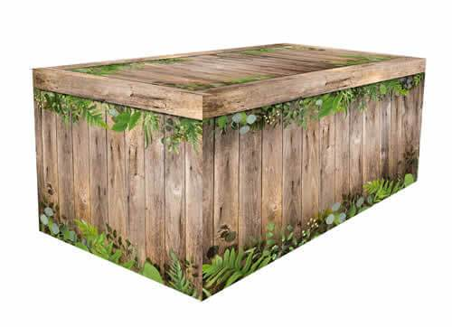 Fitted Table Cover - Rustic Oak Botanical