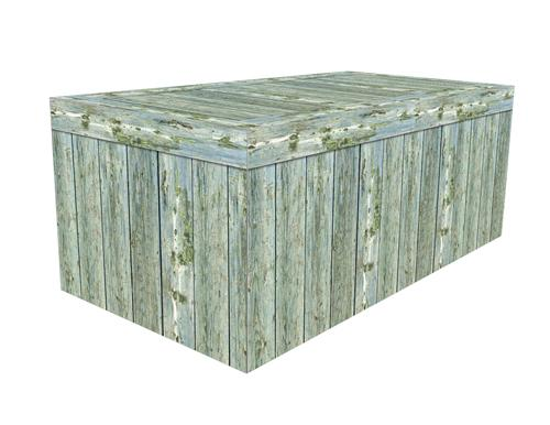 FITTED TABLE COVER - SEA GREEN WOOD