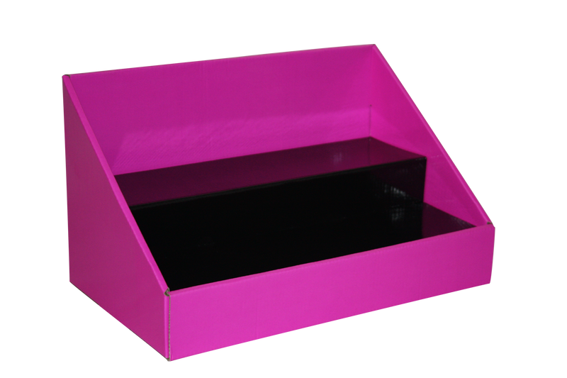 Cardboard Counter Display - Pink with Black Insert