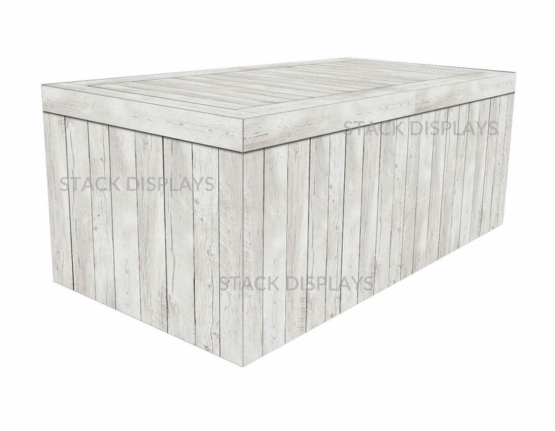 Fitted Table Cover - White Washed Wood Crate