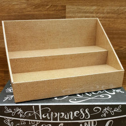 Cardboard Counter Display - Burlap