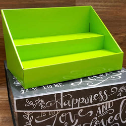 Lime Green Ccardboard Counter Stack Displays