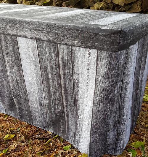 Fitted Table Cover - Old World Gray