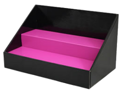 Cardboard Stack Display - Black with Pink Insert
