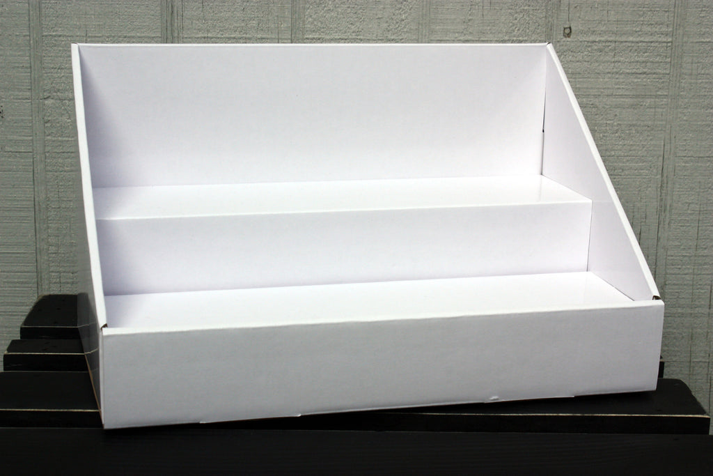 Cardboard Counter Display - Solid White