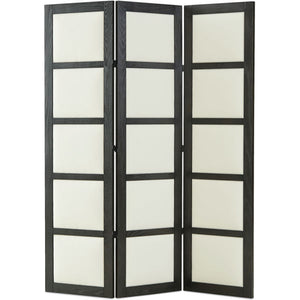 "LEE 80"" Black & White Oak Screen"