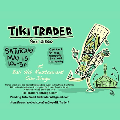 Shop my booth at the Tiki Trader May 13th