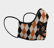 Halloween Cat Face Mask by Denialle Von Fitch