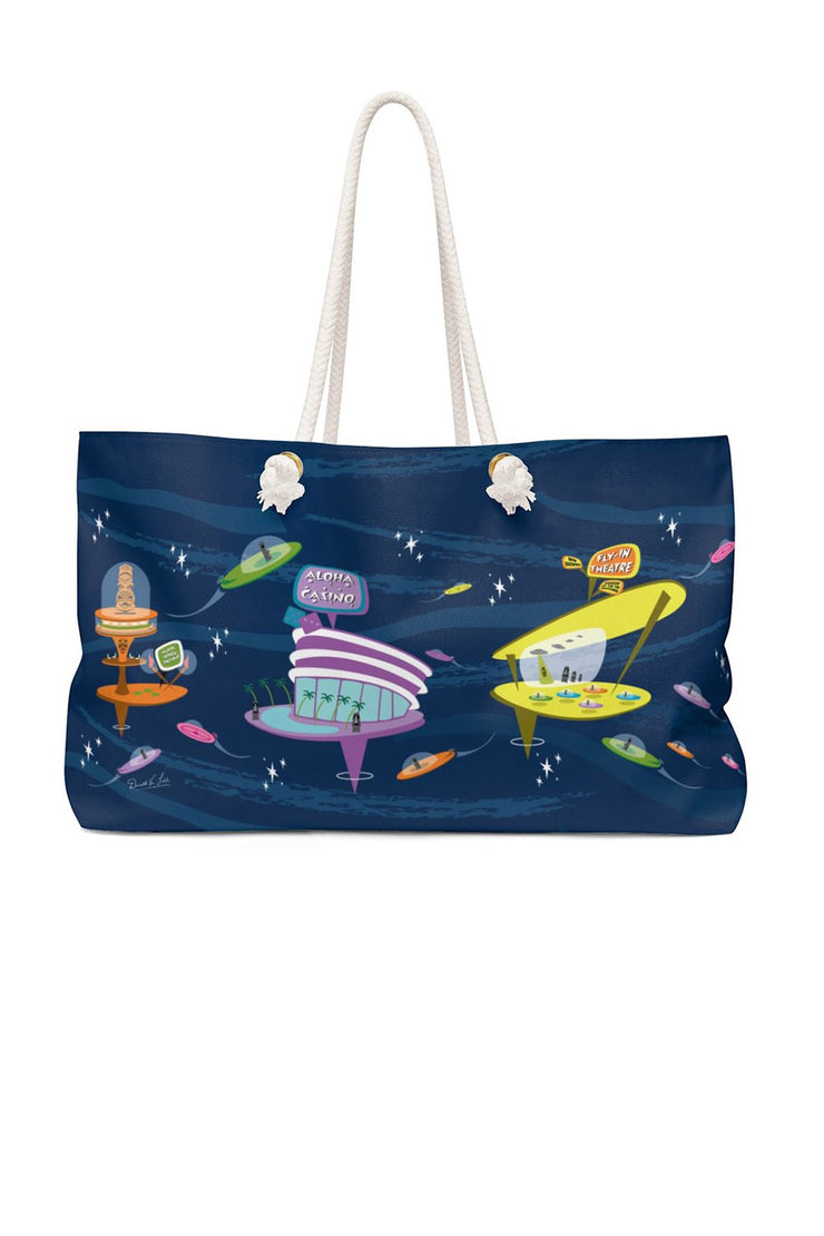 Moais in Space Weekender Bag (1600717422647)