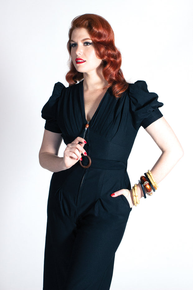 Quiet Village Jumpsuit Black - PRE-ORDER