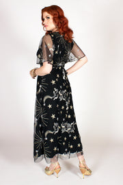 Starling Flutter Dress Black - PRE-ORDER