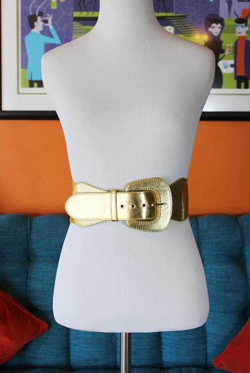Bond Babe Gold Wide Belt