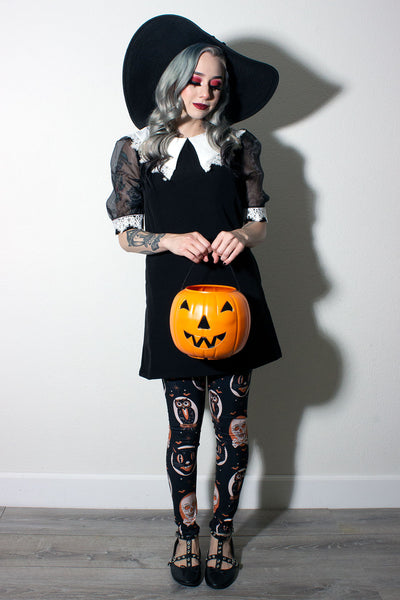 Halloween Treat Leggings LONG (1676669059127)